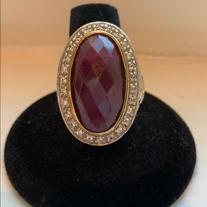 Jewelry - Natural Ruby and White Sapphire Ring